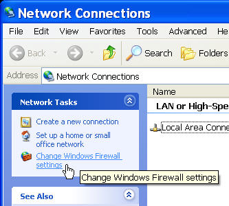 how to change your firewall settings